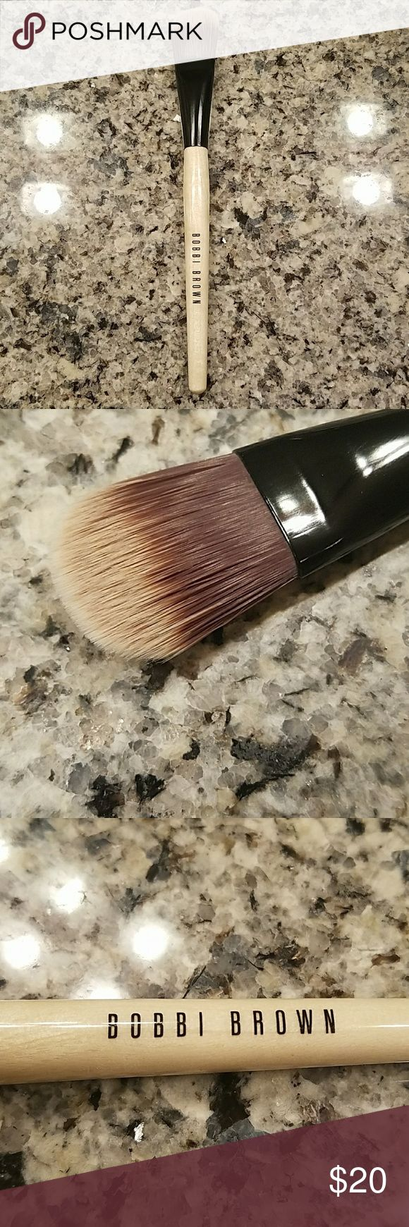 Bobbi Brown Foundation Brush Bobbi Brown foundation brush.  Used once only.  Sanitized and still in perfect condition! Bobbi Brown Makeup Brushes & Tools