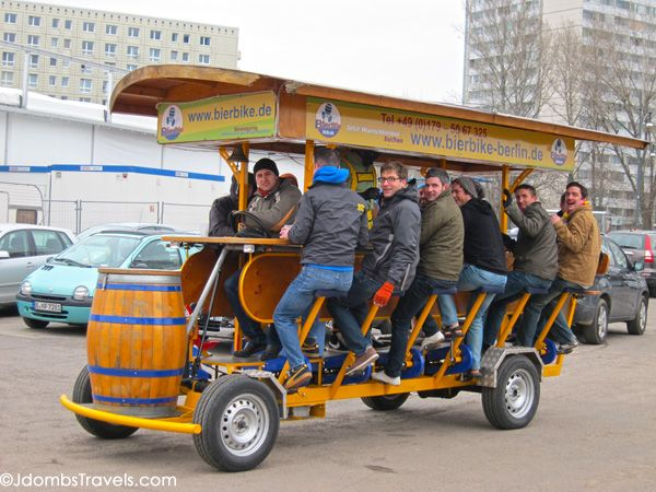 Beer Bike Berlin, bike through the city while drinking from a keg of beer attached to the front!