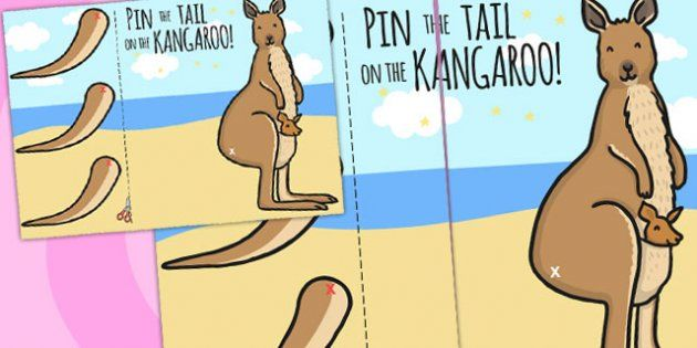 pin the tail on the dinosaur template - pin the tail on the xmas kangaroo a4 twinkl morning