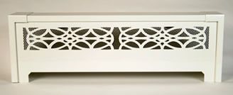 Radiant Wraps - Distinctive slip-on covers for installed baseboard heating units
