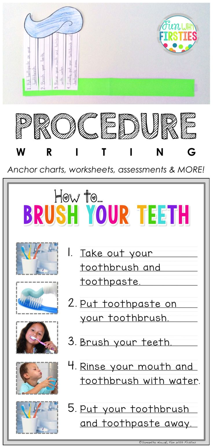 How to Brush Your Teeth lesson & craftivity for procedure/how-to writing