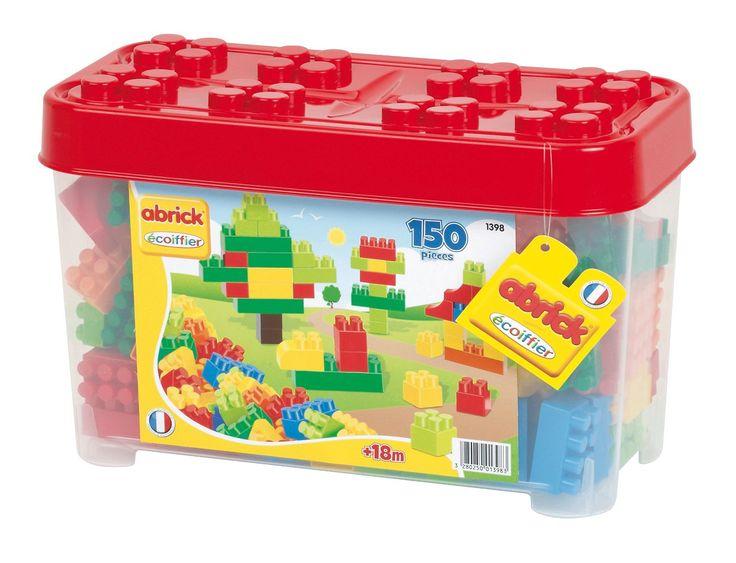 Un #baril dont le couvercle sert de base de jeu rempli de 150 briques multicolores pour stimuler la #motricité fine et la créativité des enfants à partir de 18 mois. #légo #construction