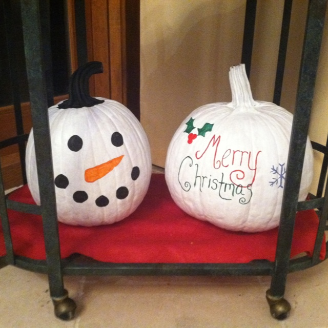 christmas pumpkins dont throw them away after thanksgiving paint them for the next holiday for the home pinterest christmas christmas pumpkins - Decorating Pumpkins For Christmas Ideas