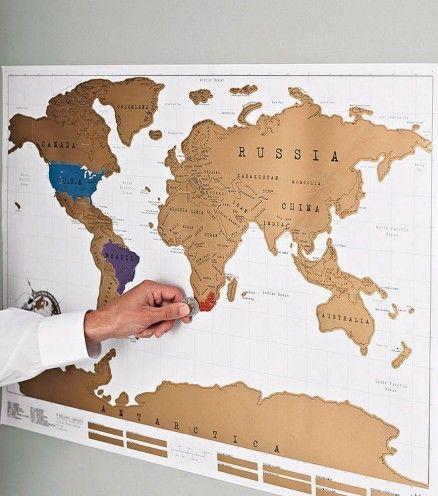 Grattez cette carte du monde et immortalisez chacun de vos voyages !