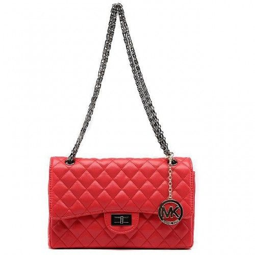 Michael Kors Sloan Chain Large Red Shoulder Bags