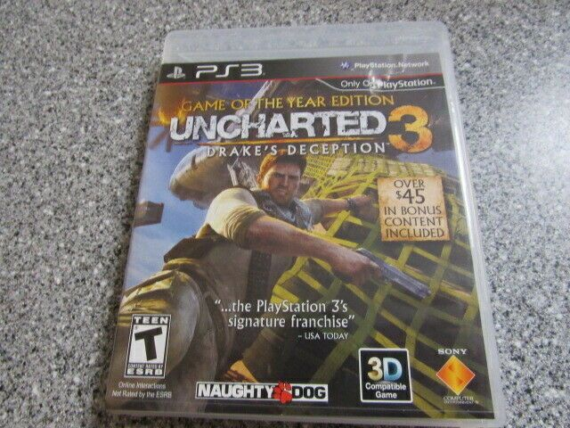 Ps3 Uncharted 3 Drake S Deception Game Of The Year Edition