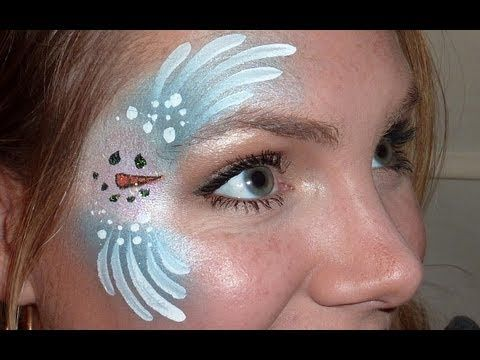 Super fast, easy, and cute snowman eye design perfect for the winter season!!!  Products used: TAG pearl white and pearl light blue DFX white, black, and orange Loew Cornell Golden Grip #6 round brush Mark Reid #2 round brush Glitter  Face painting sponge