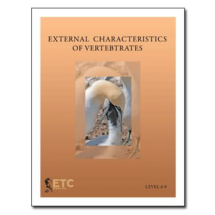 $50 - External Characteristics of Vertebrates; Nomenclature, Descriptions, Booklets, Blacklines, Control Charts; ETC Montessori
