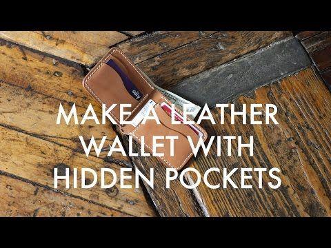 Make a Leather Bi-Fold Wallet with Hidden Pockets (Build Along Tutorial)…