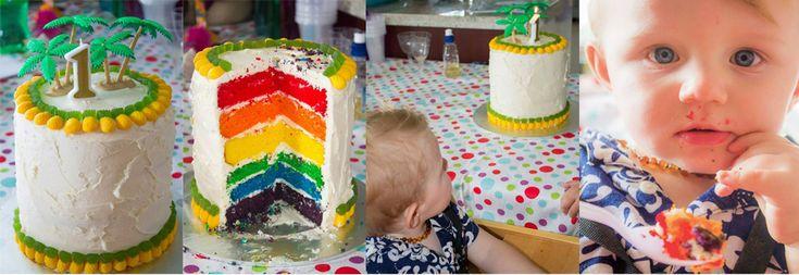 Duke's first birthday - Hawaiian Party - Hawaiian Cake