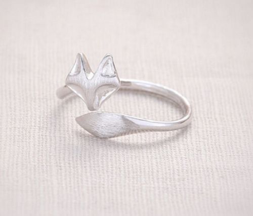 Anillo zorro Plateado - Fox ring - El principito: Amazon.es: Joyería