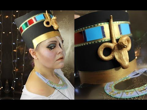The ghost of Nefertiti - Halloween costume tutorial part 1 - YouTube