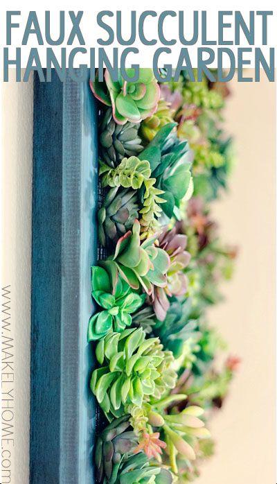 Faux Succulent Hanging Garden   Makely School for Girls