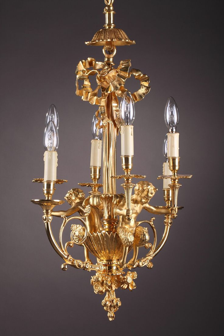 Best 25 bronze chandelier ideas on pinterest allen roth late 19th century gilt bronze chandelier with fauns in louis xvi style arubaitofo Image collections