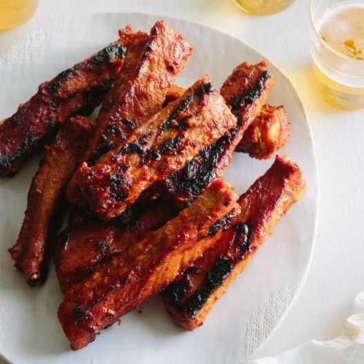 A recipe for Spicy Marinated and Grilled Spare Ribs.
