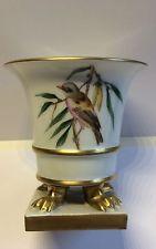 Tadellose Herend Porzellan Dekor Rothschild Vase/Vitrinestück Tatzenfüsse