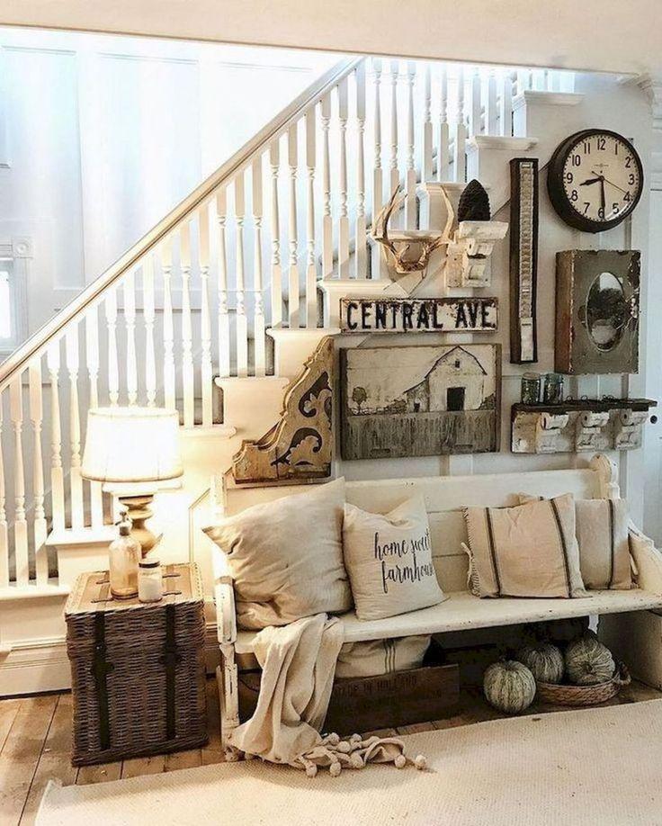 Cozy rustic farmhouse living room decor ideas (42)