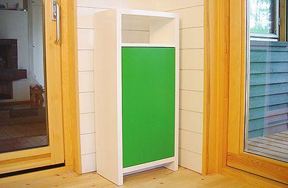 Mekka -1 ovi ja avohylly. Green.