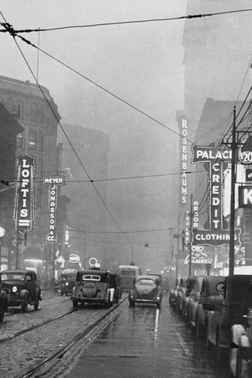 Photos Of Pittsburgh's Air Pollution: 1940s Vs. Today #miscellania