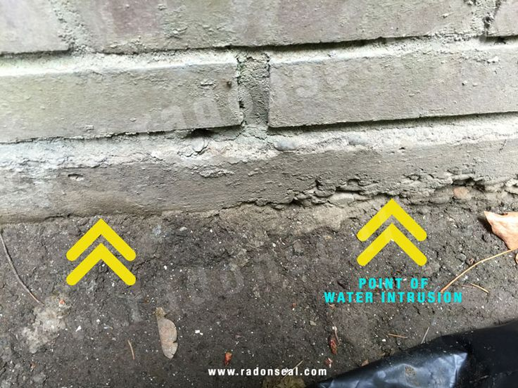 14 best radon seal images on pinterest brick sealer for Crumbling concrete floor