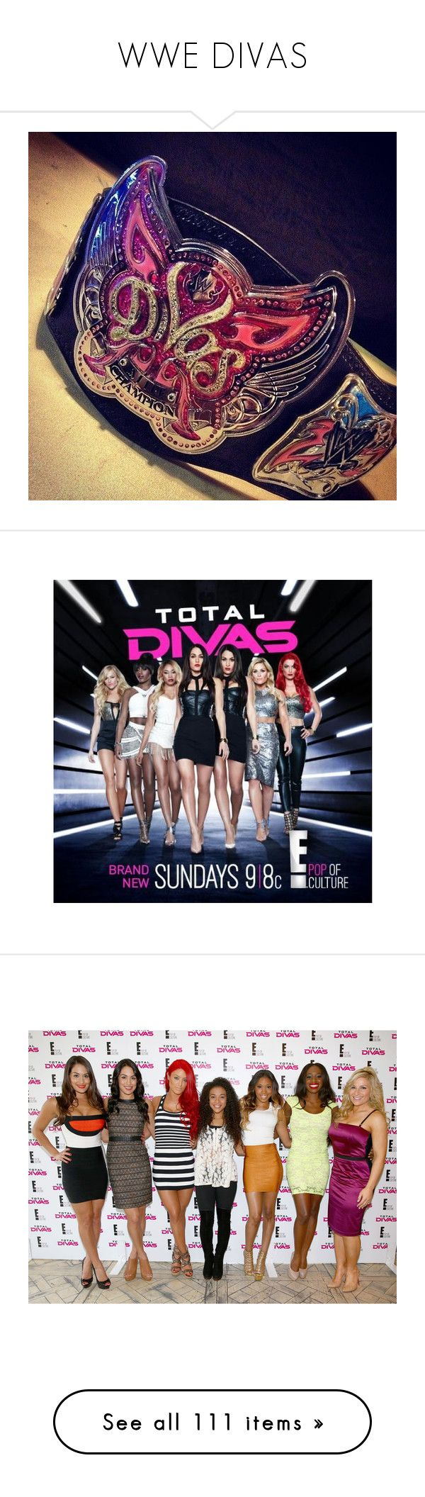 """""""WWE DIVAS"""" by adelaida0912 ❤ liked on Polyvore featuring wwe, divas, paige, nikki bella, people, aj lee, wwe stars, pictures, wrestling and wwe divas"""