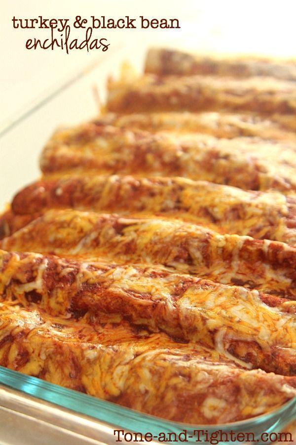 Ground Turkey and Black Bean Enchiladas on MyRecipeMagic.com