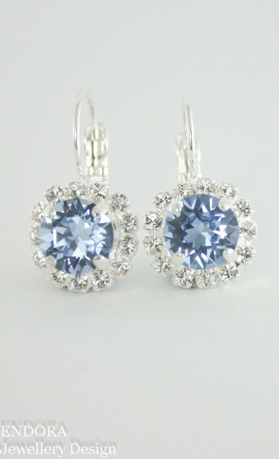 Something blue | Cornflower blue wedding | Periwinkle wedding | Swarovski Light Sapphire | Swarovski crystal | Blue wedding | www.endorajewellery.etsy.com