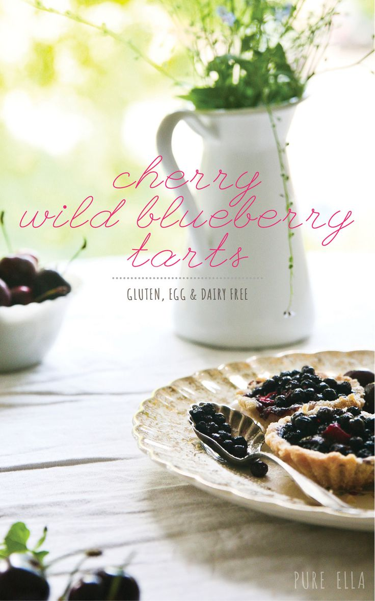 Cherry and Wild Blueberry Tarts : gluten-free and vegan #eggfree #dairyfree #glutenfree #wheatfree #nutfree #allergenfriendly