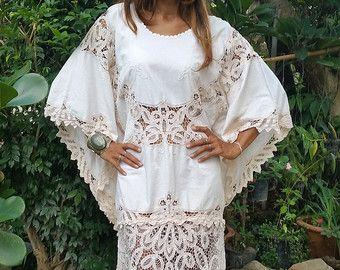 Vestido Maxi de color beige de encaje Vintage Boho Angel. Tela vintage. Look elegante.