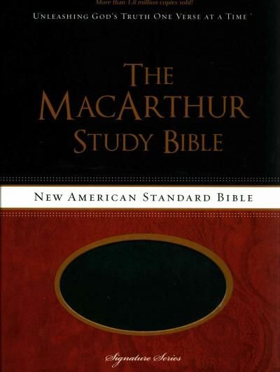 The MacArthur Study Bible: New American Standard Bible, Raven, Leather-Look