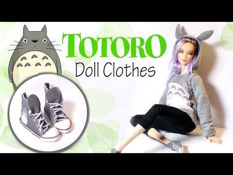 How To Make: TOTORO Hoodie & Sneakers - Doll Shirt & Shoe Tutorial https://www.youtube.com/watch?v=-rX0fKMKYYE