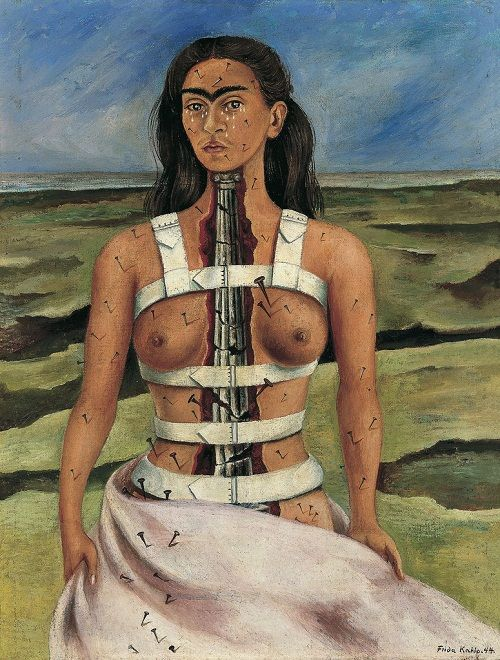 The Broken Column (1944)  self-portrait painted by Frida Kahlo