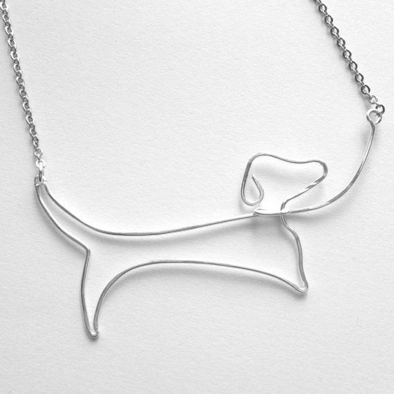 Dachshund Necklace Designed by FioreJewellery. For sale on Etsy.