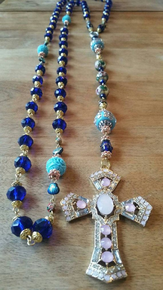 Check out this item in my Etsy shop https://www.etsy.com/ca/listing/279430554/hey-mary-peace-beads-royal-blue-bride-by