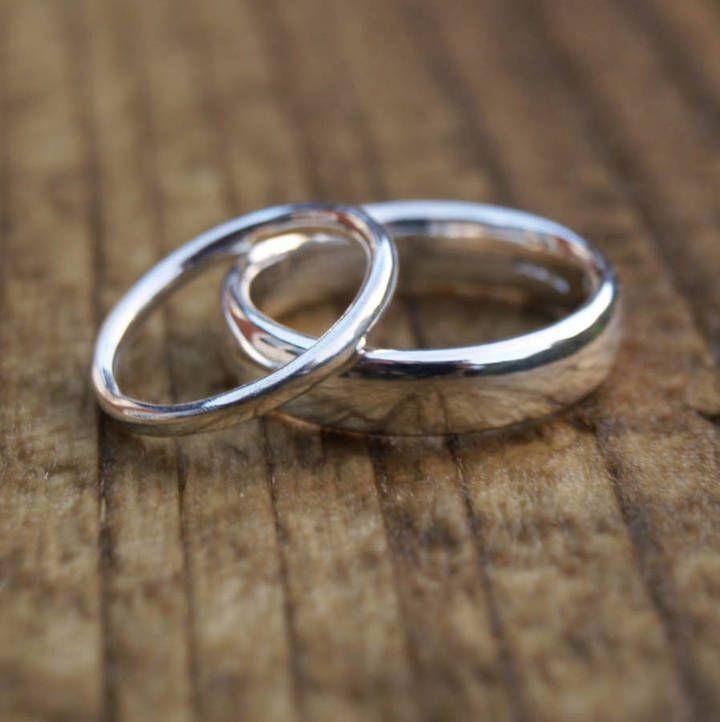 Karen Johnson Silver Wedding Ring Set