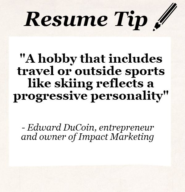 resume infographic advice resume tip tuesday should you include hobbies image description should you include hobbies more resume tips at www - Resume Advice