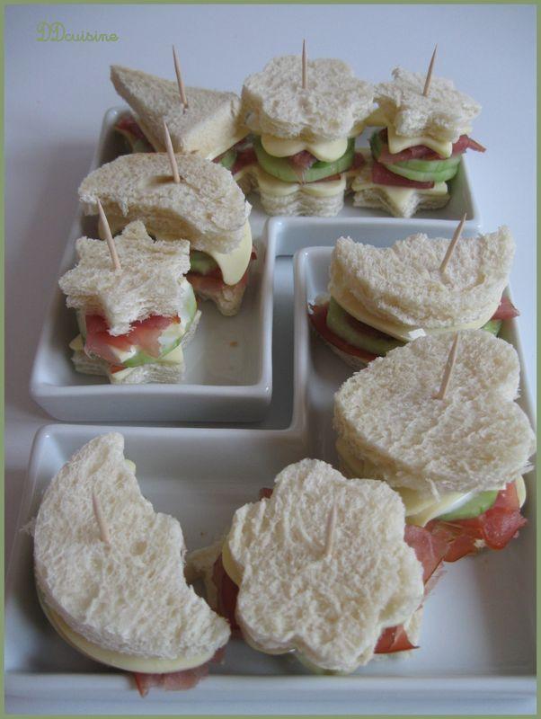 Mini sandwiches rigolos pour apéro sympa