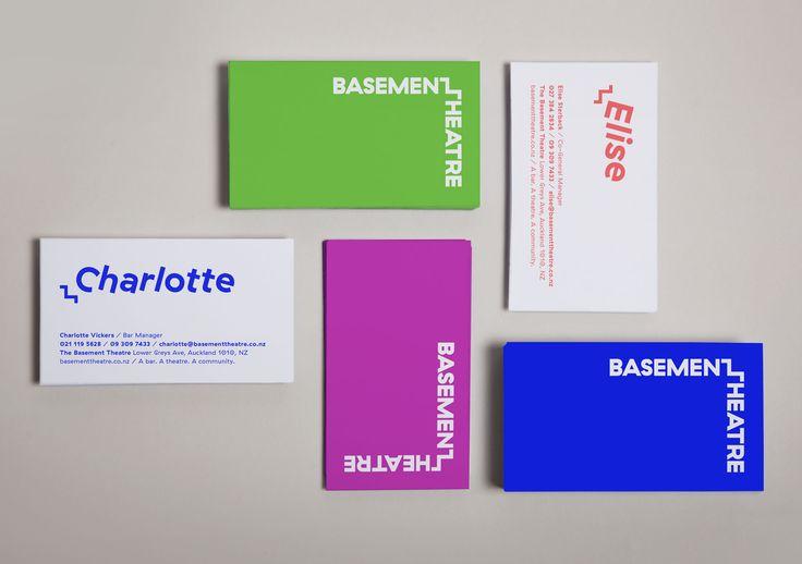 New #visualidentity for #basementtheatre by #studioalexander #typography #logotype #brand #poster #flurogreen