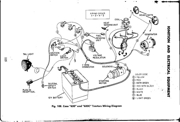 Case 530 wiring diagram  Yesterday's Tractors (203658