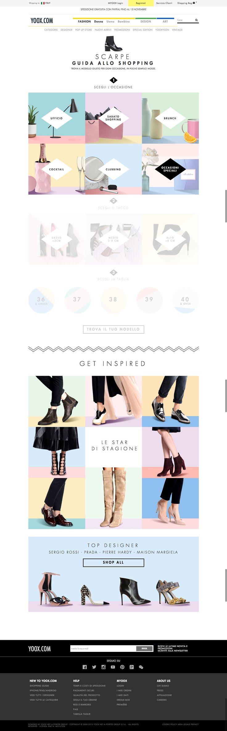 #shoppingGuide Yoox - Shoes Shopping Guide  - Landingpage