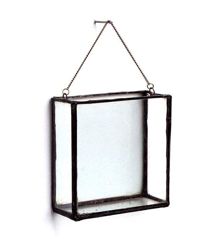 Square Hanging Glass Planter