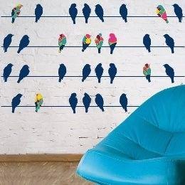 : Decals, Wall Decal, Card Ideas, Birds