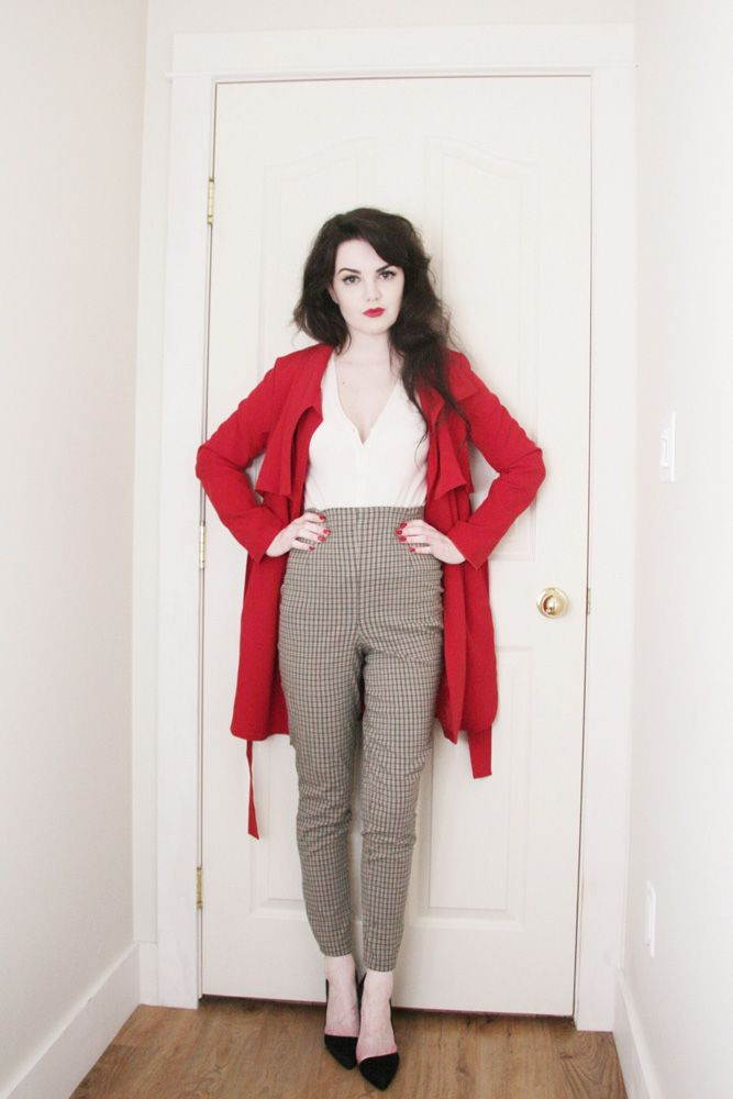 Red Lipstick Tumblr Outfit | www.imgkid.com - The Image ...