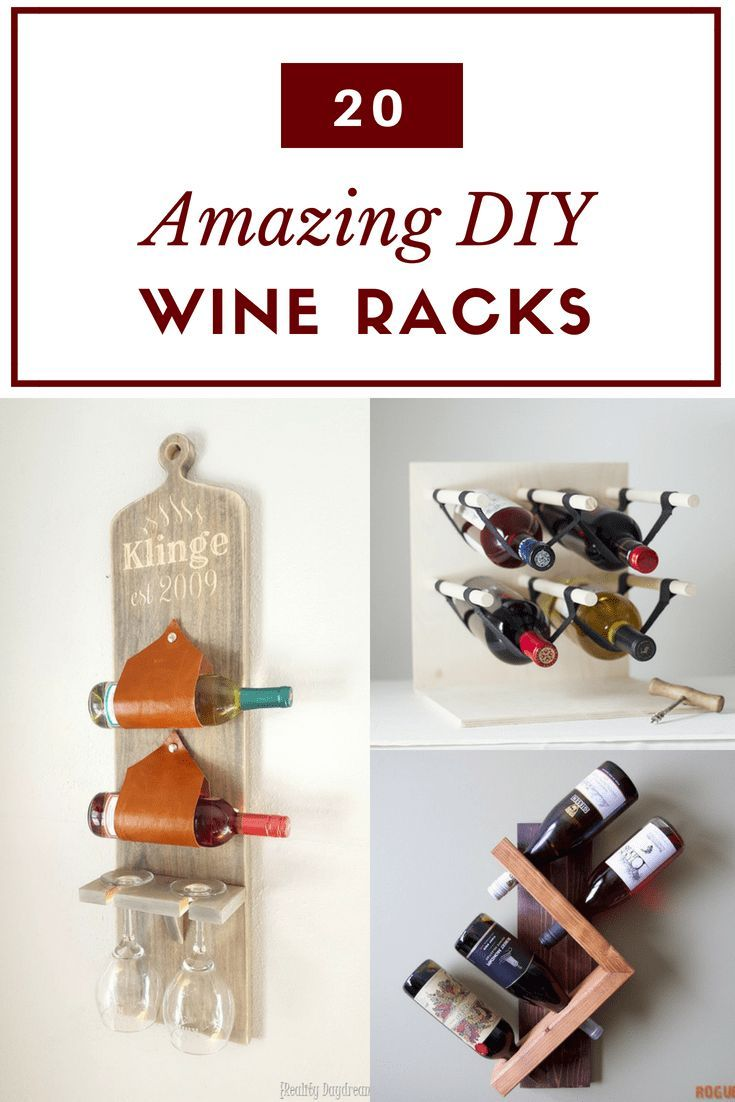 DIY Woodworking Ideas Always have a bottle of wine on hand with one of these DIY wine rack ideas! Whet...