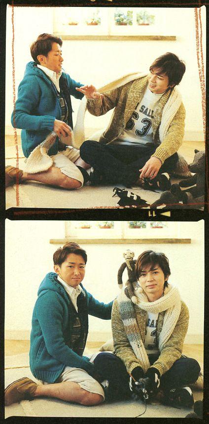 Satoshi Ono & Jun Matsumoto ( Japanese-idle group Arashi ) in non-no 2013.