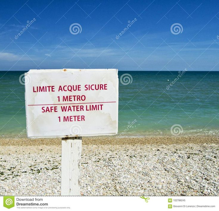 Safe Water Limit 1 Meter Advice On A Beach. For Graphical Concept - Download From Over 67 Million High Quality Stock Photos, Images, Vectors. Sign up for FREE today. Image: 102788245