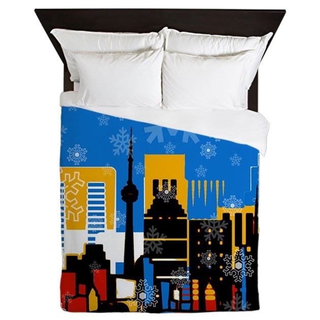Snowflakes are all over our lovely city! #christmasbedding