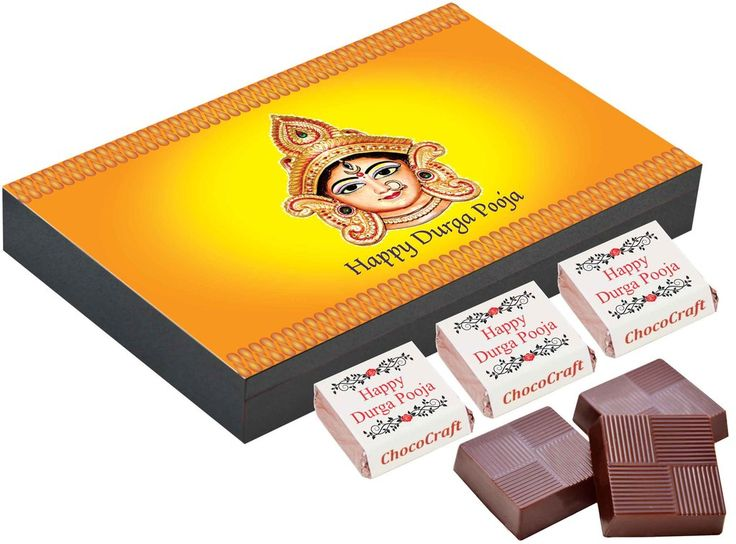 Personalised gift for Durga Pooja - 9 Chocolate Gift Box - Gifts for durga puja