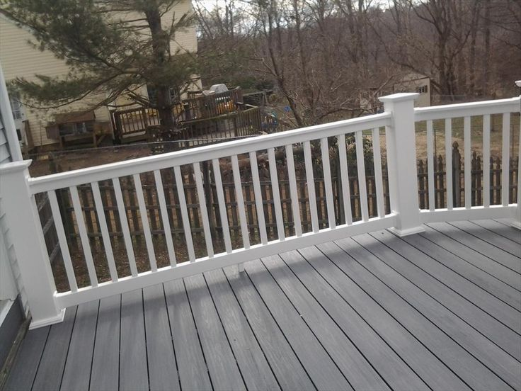 Best vinyl deck railing ideas on pinterest