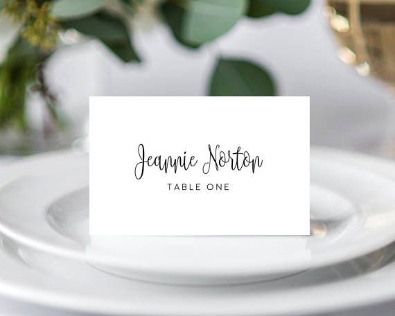 Place Cards Template Wedding Place Cards Wedding Place Card Etsy Wedding Place Card Templates Card Table Wedding Wedding Name Cards
